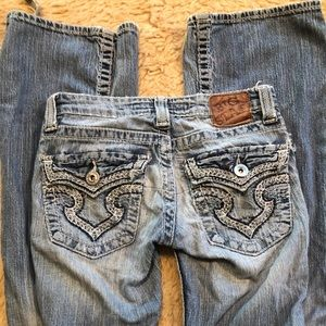 BIG STAR distressed boot cut Jeans